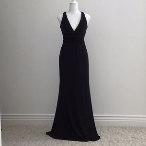 Laundry by Shelli Segal Black Jersey Gown